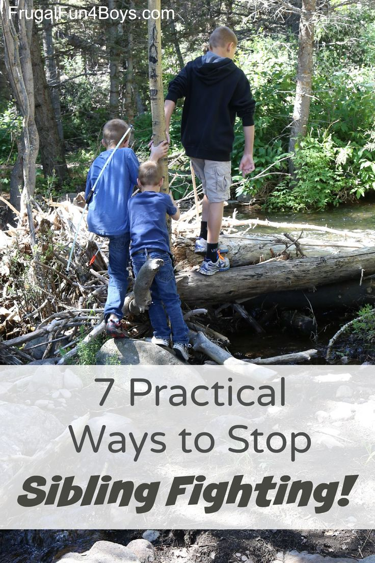 7 Practical Ways to Help Siblings Get Along - Love these simple tips for facilitating cooperation and putting an end to sibling fighting!