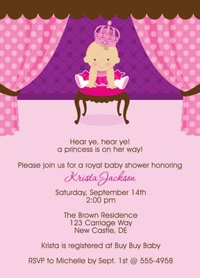 pink ballerina themed baby shower invitations | Our Little ...