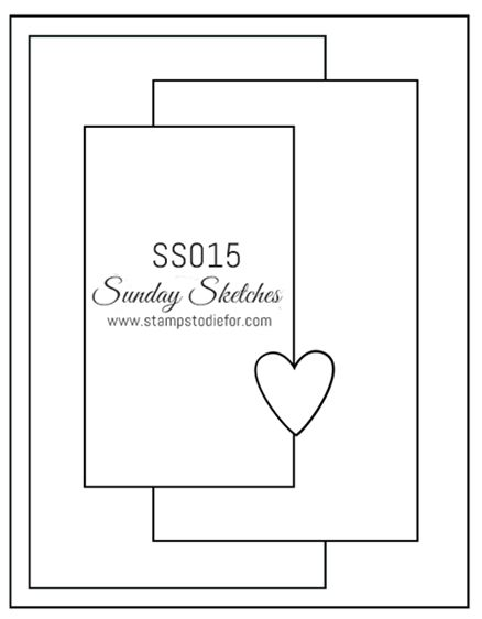 Sunday Sketches SS015 by Stamps to die for with measurements