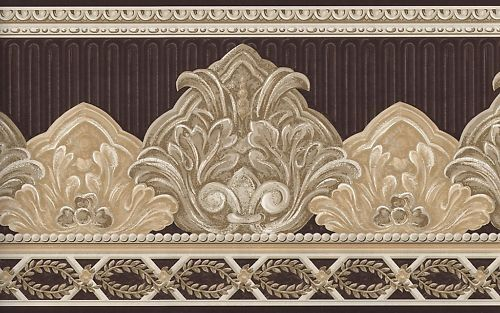 обои границы элегантный коричневый и бежевый прокрутки