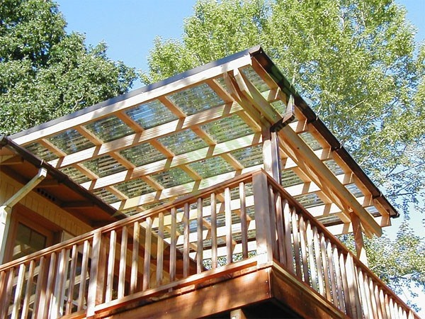 Covered pergola - very practical.