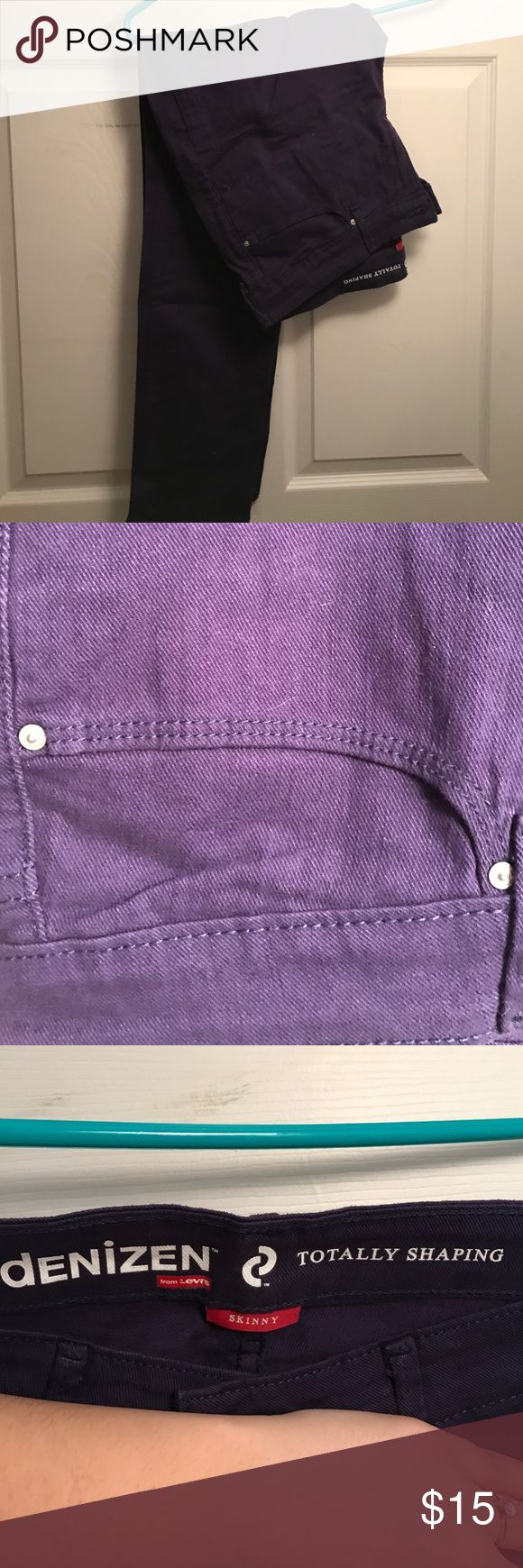 Purple skinny jeans Purple skinny jeans. Never worn, no tags Levi's Jeans Skinny
