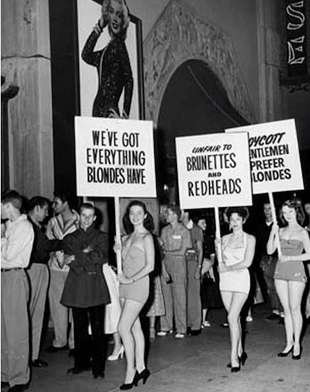 protesting blondes