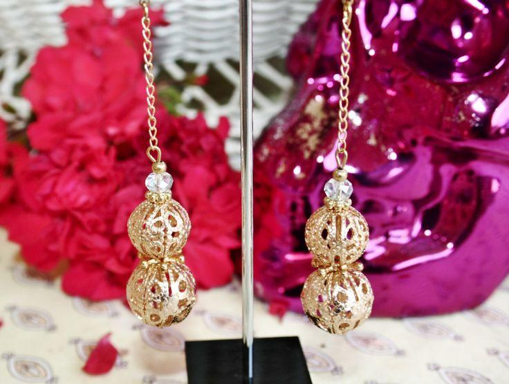 Vintage Bridal Wedding Spanish Filigree Crystal Drop Earrings by BleakDesigns on Etsy