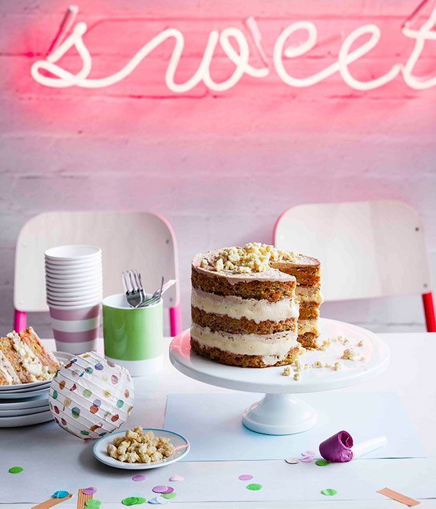 Recipe for carrot layer cake by Christina Tosi from Momofuku Milk Bar in New York.