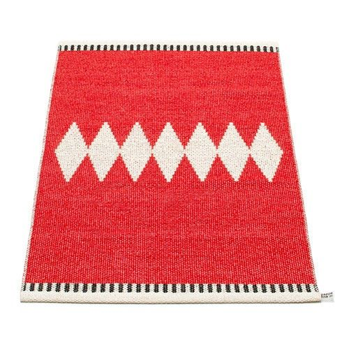 Pappelina Rug Carpet Tyra Red Plastmatta