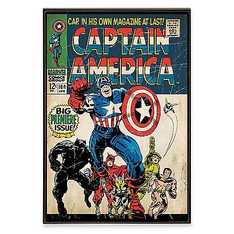 Captain america marvel comic book wall d cor plaque comic the o 39 jays and wood wall art - Marvel comics decor ...