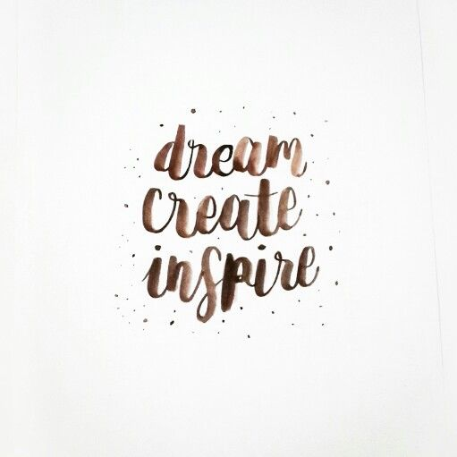 dream create inspire 2016 resolution  #handlettering #brushlettering #brushpen #diy #quote