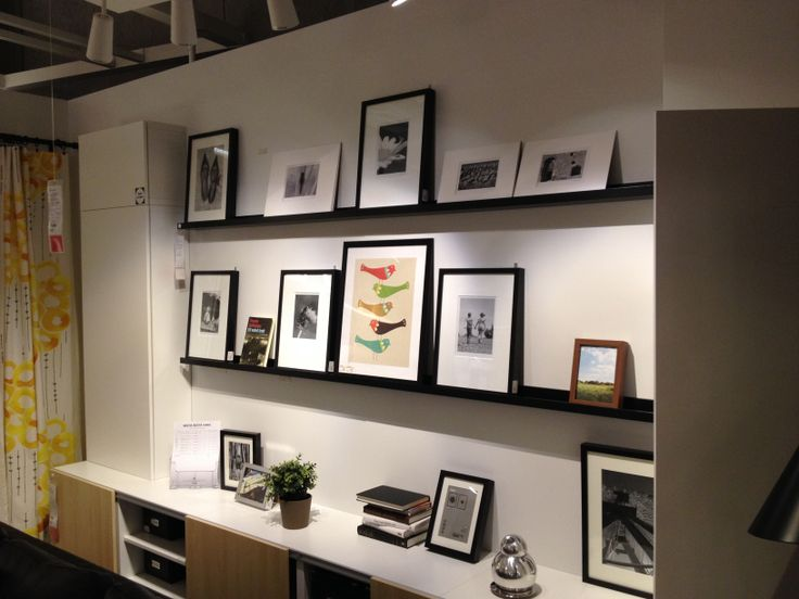 Ikea Picture Rail with RIBBA frames