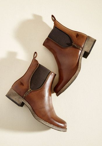 Casual Influence Boot in Cognac | Mod Retro Vintage Boots | ModCloth.com