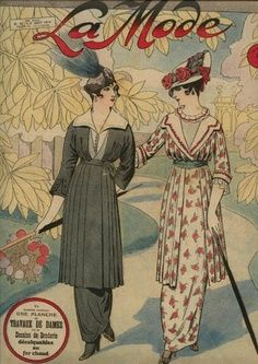 1910 Daytime Dress: empire revival and the hobble skirt, dress had an elevated waistline, bodice style was simplified, sleeves were tight-fitting, skirt style varied but most had a very narrow ankle circumference