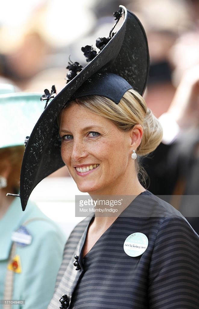 (EMBARGOED FOR PUBLICATION IN UK NEWSPAPERS UNTIL 48 HOURS AFTER CREATE DATE AND TIME) Sophie, Countess of Wessex attends Day 4 of Royal Ascot at Ascot Racecourse on June 21, 2013 in Ascot, England. (Photo by Max Mumby/Indigo/Getty Images)