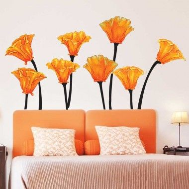 California Poppies Watercolor Wall Decal Set  sc 1 st  Pinterest & 233 best Chromantics Wall Decals images on Pinterest | Wall decal ...