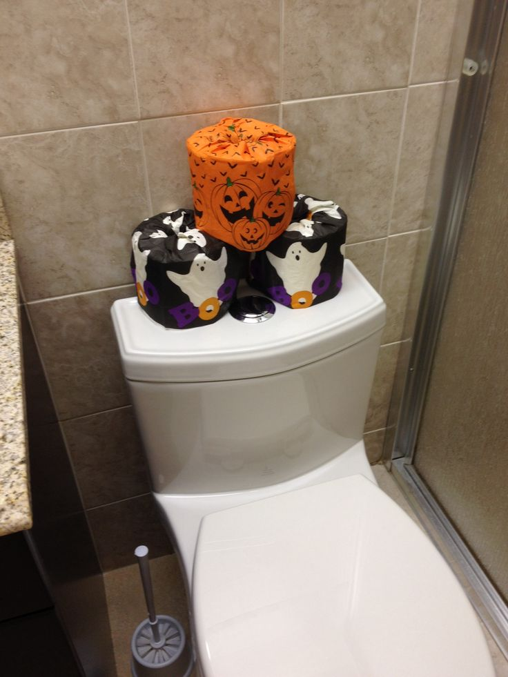 I used dollar tree napkins to cover the TP :) great decor!