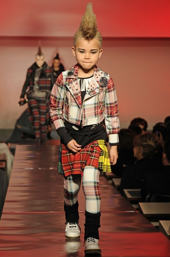 Punk kids at the Jean Paul Gaultier fall 2014 catwalk show