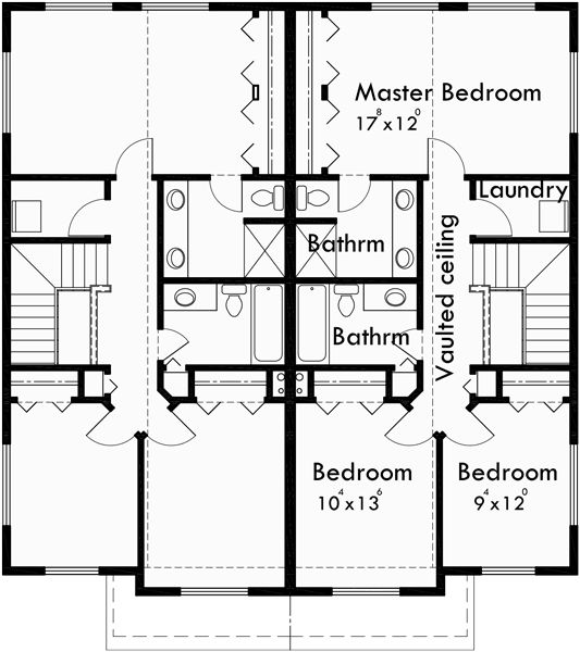 House Plans Duplex Plans Row Home: 25+ Best Ideas About Duplex House Plans On Pinterest
