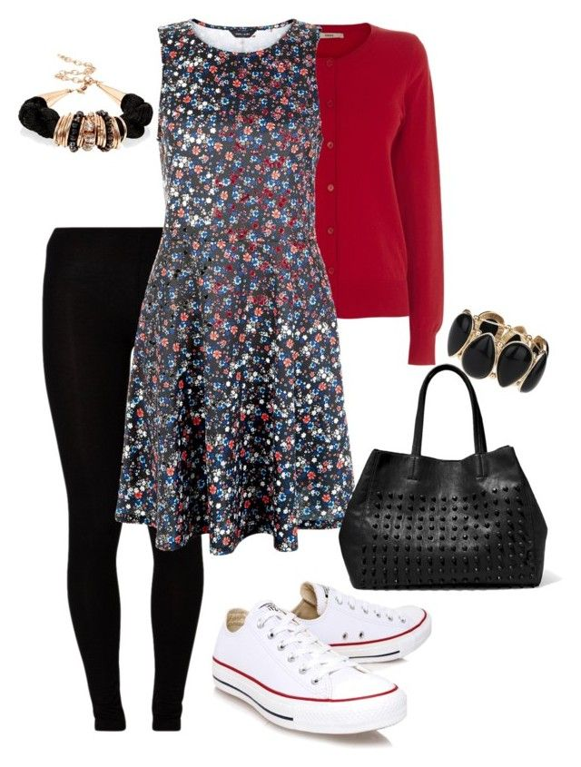 """Office Casual #81"" by amooshadow on Polyvore featuring Majestic, Oasis, New Look, Converse, Steve Madden, Dorothy Perkins and 81"