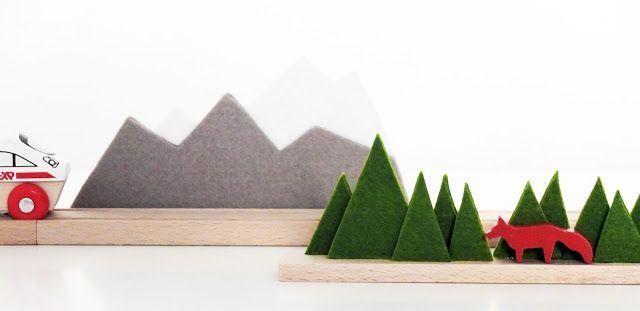kinderkram... bäume und berge für die holzeisenbahn                                                                                                                                                                                 Mehr