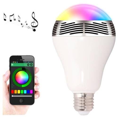decoracion hogar lamparas bombilla led rgb que cambia de colores contrala