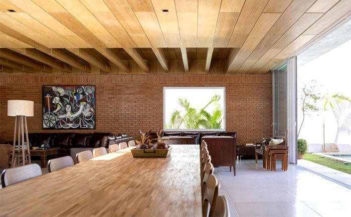 Brasilia Located Red Bricks House malva house dining area