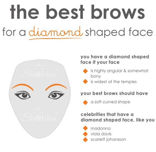 the best brows for a diamond shaped face