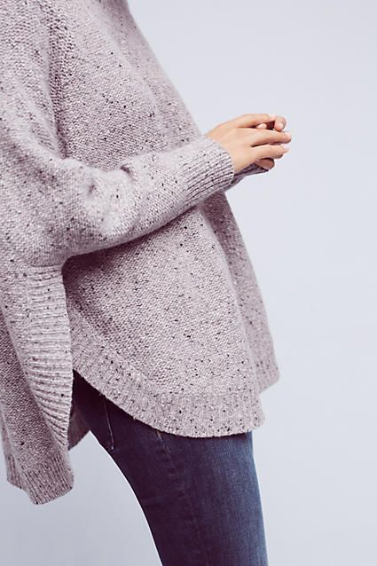 This Anthropologie sweater has a very poncho-like aspect / oversized sweaters are popular everywhere right now but in UR winters they can be your main 'winter wear'