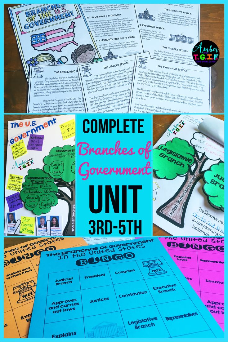 This 3rd, 4th and 5th grade COMPLETE branches of government unit is print and go for us busy teachers!  All 3 branches of government are covered with multiple activities such as reading passages, graphic organizers, comprehension worksheets, interactive notebook, anchor chart, vocabulary and definition sorting cards, bingo review, study guide, test and of course answer keys. Third Grade, Fourth Grade, Fifth Grade