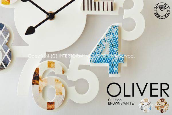 【INTERFORM】OLIVER [オリヴァ]■壁掛け時計 【インターフォルム】:INTERFORM INC.