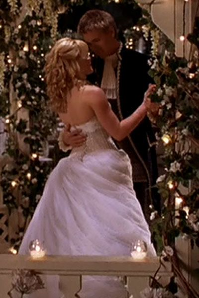 This is what my wedding is going to look like: music, dress, lights and flowers, and Chad Michael Murray included