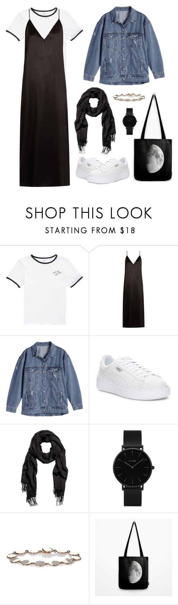 """""""Under the Night Sky"""" by afifahafifa on Polyvore featuring Vans, Raey, Puma, CLUSE and Pamela Love"""