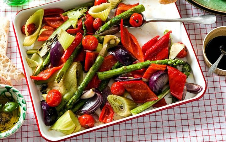 Roasted vegetables with Sweet Palermo peppers