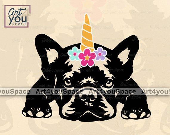 French Bulldog Unicorn Svg Frenchie Clipart Cute Dog Vector Etsy Unicorn Svg Dog Vector Bulldog