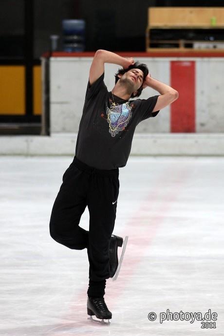 Stéphane lambiel, practice in Oberstdorf