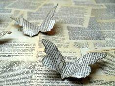 De todas las Manualidades: Mariposas con papel viejo