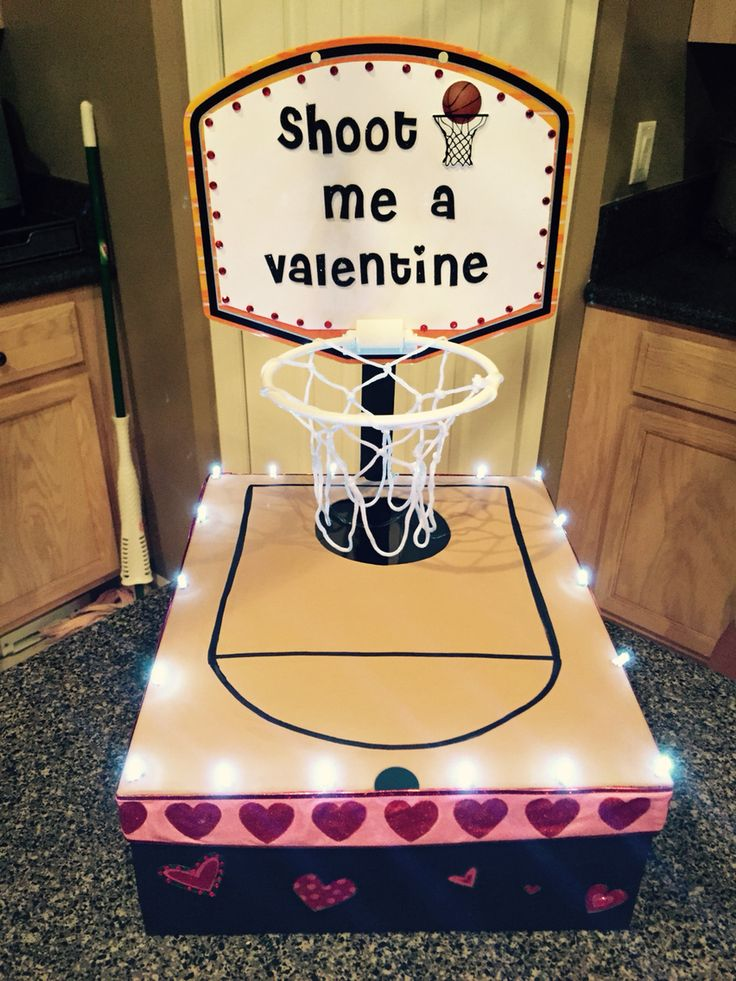 Basketball valentine box
