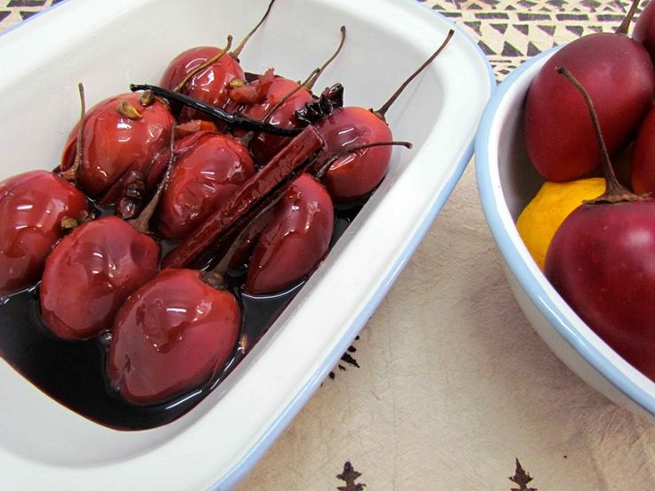 Try our fantastic Tamarillos Poached with Spices, Lemon and Ginger - delicious!