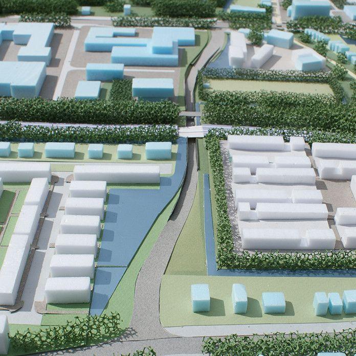 Schetsontwerp voor de nieuwe invalsweg voor het centrum van Hoorn als voorbereiding op de aanbestedingsprocedure (2012).