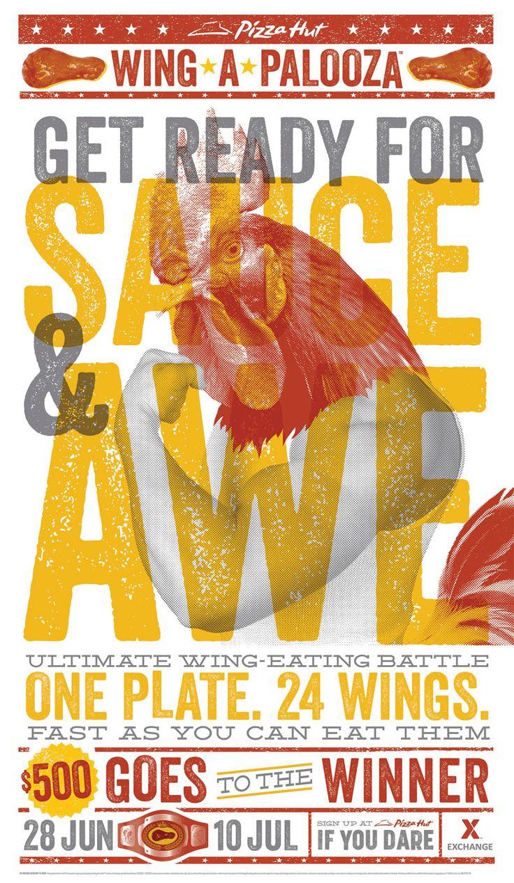 Poster design winners - Wingstreet Wing A Palooza Posters Agency Tracylocke Location Dallas Texas Website