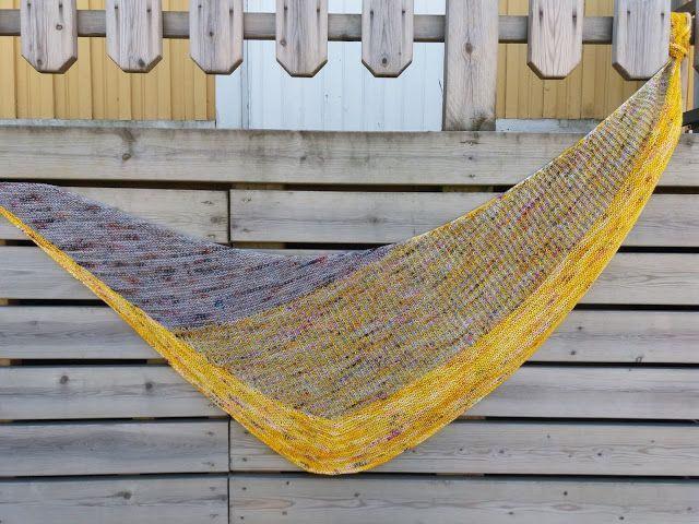 Lankaterapiaa: So hot right now - Flyway Twist shawl by Veera Välimäki