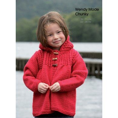 Hooded Jacket in Wendy Mode Chunky. Discover more Patterns by Wendy at LoveKnitting. We stock patterns, yarn, needles and books from all of your favorite brands.