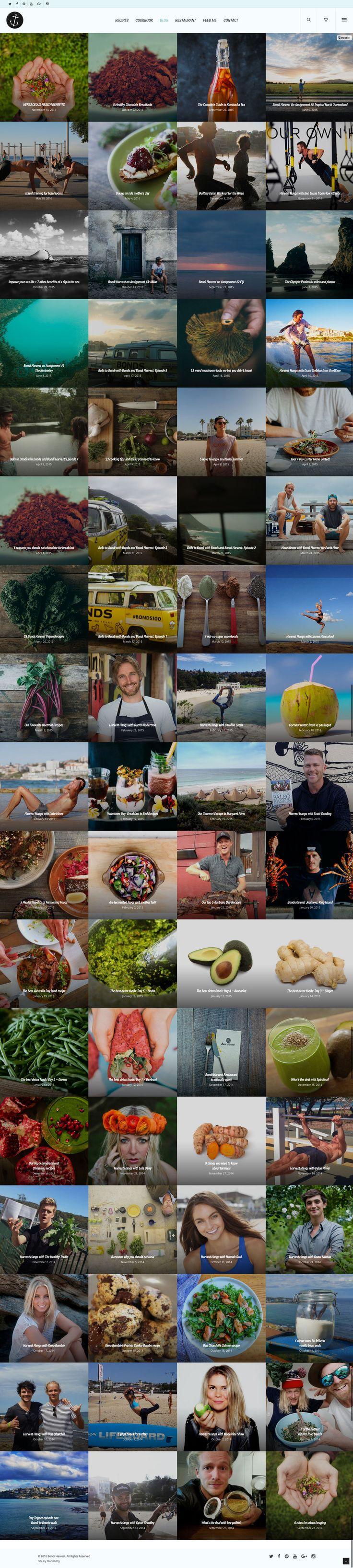 Bondi Harvest website by KORE (http://kore.digital/). The home of food porn. Blog index.