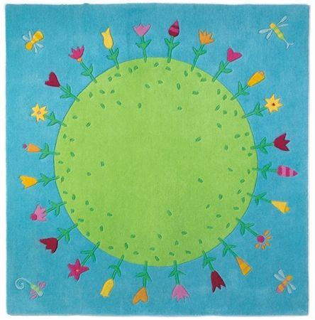 Dětský koberec, rozměr: 150x150 cm. Doplňky do dětského pokoje Novozélandská vlna s textilním rubem. Cena 4920 Kč