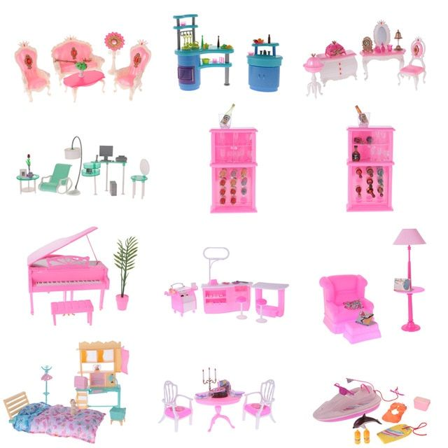 New 1 6 Dollhouse Luxury Plastic Furniture Play Set For Toy 1 6