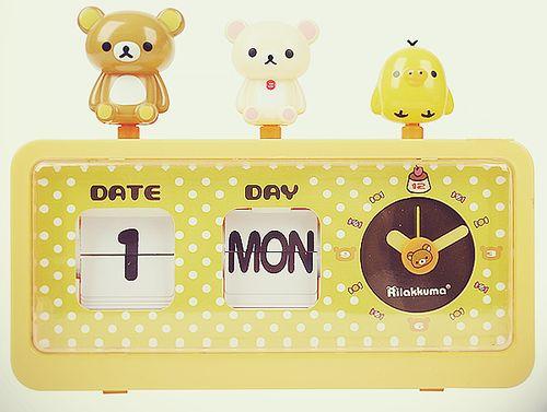 Rilakkuma ♥ clock #kawaii