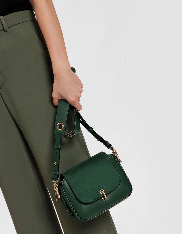 b7eeaaf2718df5 Grommet Detail Strap Bag | Endource Charles Keith, Lockers, Crossbody Bag,  Saddle Bags