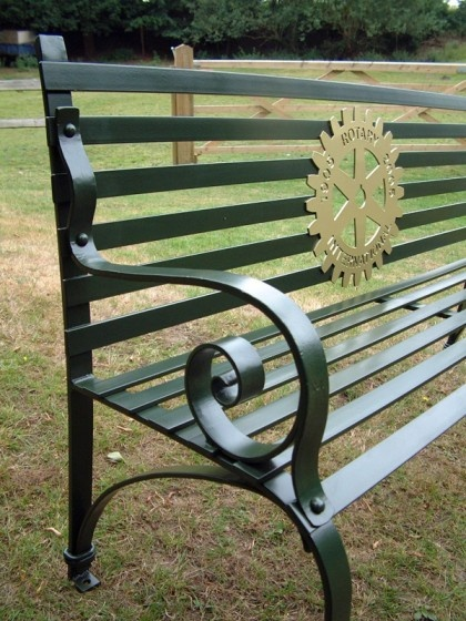 Traditional forged metal village bench | James Price Blacksmith Designer |