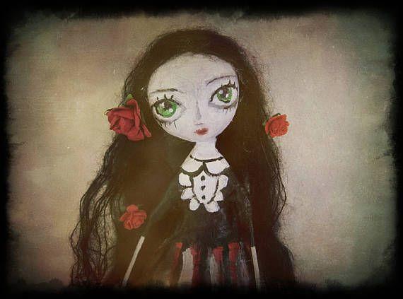 OOAK doll gothic art doll victorian doll art doll big eyes