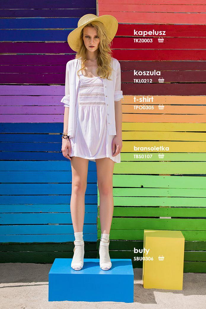 Luźna #koszula damska biała #troll