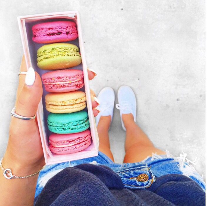 This picture of Alisha Marie's macaroons is literally the most #tumblr picture ever