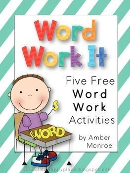 {Free} Word Work It {Five Free Word Work Activities} hands-on, fun, and easy to implement for primary students.